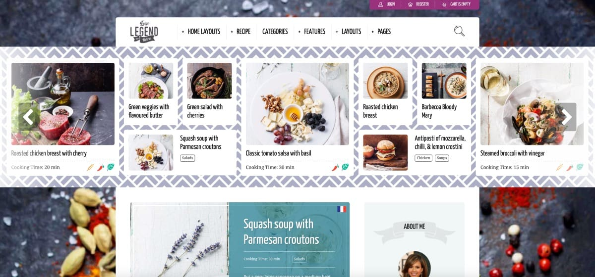 WordPress 食譜烹飪佈景類主題推薦:Neptune - Theme for Food Recipe Bloggers & Chefs
